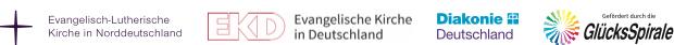 Die Unterstützer sind der die Evangelische Kirche Deutschland, die Diakonie Deutschland, die Evangelisch-Lutherische Kirche in Norddeutschland und die GlücksSpirale